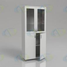 Шкаф для документов ЛДСП 2х-створчатый ШД2 на опорах 1900х800х400 мм.