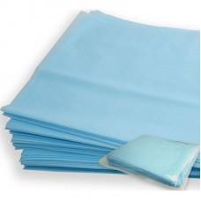 Простыня одноразовая нетканная стерильная 70х80 Спанбонд голубая 25гм2